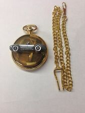 Shelby Cobra ref239 Pewter Effect emblem gold quartz pocket watch