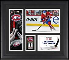 B.Gallagher Canadiens Framed 15x17 Collage w/Piece of Game-Used Puck - Fanatics