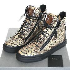 GIUSEPPE ZANOTTI Homme reptile Zulu stone London shoes sneakers 41-IT/8-US NEW
