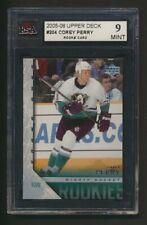 Corey Perry RC 2005-06 Upper Deck #204  Graded KSA MINT 9  Rookie  NHL Hockey