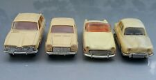 VNTG. SIMCA RENAULT AUTOBIANCHI TOY CARS MADE IN USSR CCCP HARD PLASTIC 1/43