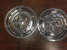 """Mercury Comet Cyclone Hubcaps Wheel Covers 65 66 1967 14"""" 2 pc Rear Covers #604"""