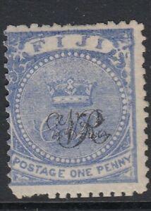FIJI-1877 1d Blue Sg 31 mint no gum