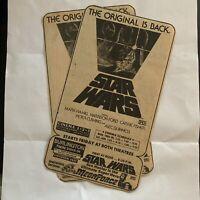 Vintage 1977 BURLINGTON TWIN DRIVE-IN Vermont Star Wars Newspaper Ads