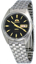 Orient FAB0000DB Men's 3 Star Stainless Steel Black Dial Automatic Watch