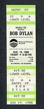 Bob Dylan 1988 Unused Full Concert Ticket Portland Oregon Down In The Groove