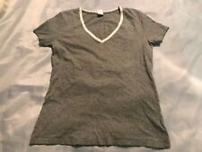 ZUMBA Wear V-Neck Shirt Women's Size M Medium Gray Short Sleeve Dance Exercise