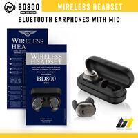 Wireless Bluetooth BD 800 Mini Twins Earbud Earphone Earpiece Headset Sport Gym