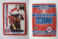2015 SCA Phil Myre Montreal Canadiens goalie never issued produced #d/10