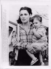 Margaret Trudeau and son Michele in Toronto 8X10 Vintage Still