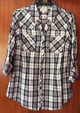ladies shirt -  size 12 - navy check/tartan
