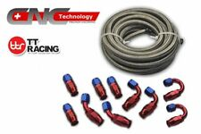 AN-6 AN6 Stainless Steel PTFE Fuel Line 20FT Fitting Hose End Ethanol Swivel Kit