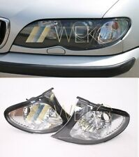 Frontblinker Set weiss BMW E46 Limousine Touring ab Bj 01 Facelift Rand schwarz