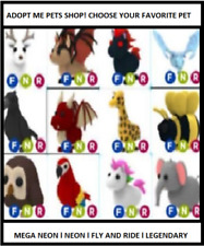 Adopt me Pets Shop Mega Neons - Neons - Legendarys - Fly and Ride ALL PETS CHEAP