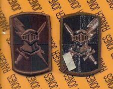 US Army 20th Engineer Brigade OD Green & Black ODD uniform shoulder patch m/e Accessoires, losse onderdelen Overig