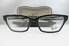 Ray-Ban RB 5280 2034 Shiny Black on Clear New Authentic Eyeglasses 51mm w/Case