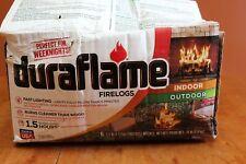 6 Duraflame Firelogs 2.5 lbs Logs 1.5 Hour Burn Time Indoor/Outdoor NIOB