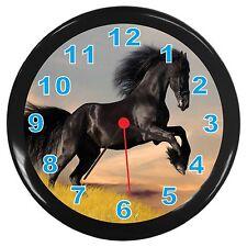 Beautiful Black Horse Room Decor Wall Clock