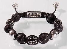 Nick Jordan Armband Lavastein Silber Bracelet Fashion Lilie Unisex Tonerde Lava