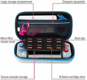 NWOT Orzly Case for Nintendo Switch Lite Gray Pink Turquoise Portable Travel