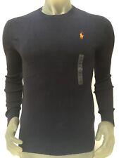 Men's Ralph Lauren Navy100 Pima CTN Wool Logo Crew Neck Jumper Size S