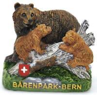 Bern Bärenpark Bärenfamilie Poly Fertig Modell,Souvenir Schweiz Suisse