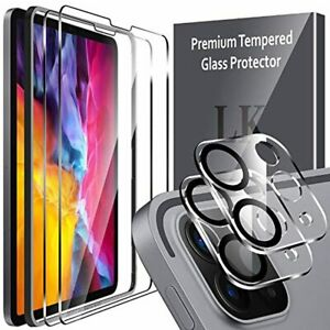 Apple iPad Pro 11 2021 Screen + Camera Lens Protector Anti-Scratch Glass Cover