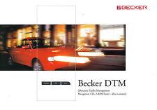 Prospekt Becker DTM 4 2002 Broschüre brochure Autoradio car HiFi CD Navi