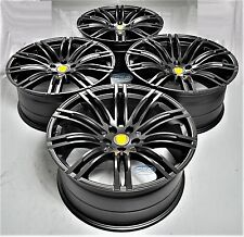 """21"""" TURBO STYLE BLACK STAGGERED WHEELS RIMS FITS  PORSCHE MACAN 1298 MB"""