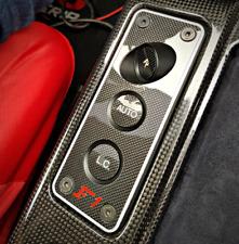 Ferrari F430 Coupé Cabriolet Spider Scuderia echt Carbon Blende Schaltereinheit