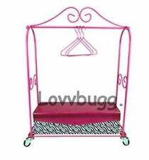 Hotel Pink Rolling Dress Rack Set for Doll Clothes American Girl IN-STOCK