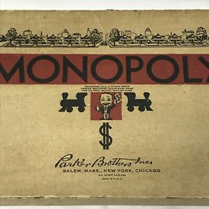 Rare Vintage 1936 Monopoly Box Edition Early Board Game