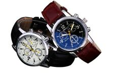Men's Leather Military Casual Analog Quartz Wrist Watch Wristwatch