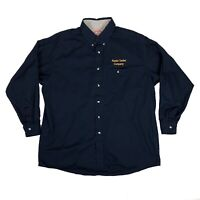 Red Kap Vintage 90s Alaska Tanker Men's XL Embroidered Navy Work Shirt Uniform