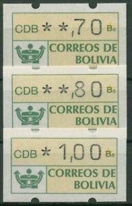 Bolivien 1989 Automatenmarken Postemblem ATM 1 postfrisch
