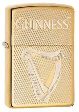 Zippo 29651 Guinness Beer High Polish Brass Finish New Lighter