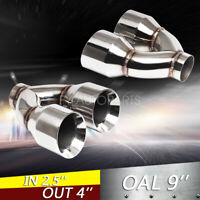 """70-81 Firebird Trans Am Side Splitter Exhaust Tips Tail Pipes 2.5/"""" Stainless"""
