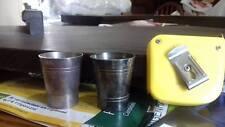 2 Alcoholic Spirit measurement cup,Vintage,1/6 Gill, 1051,66,crown,teacup,unit