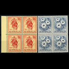 AUSTRALIA 1959-64 1s 6d & 2s. Block of 4 SG 322-3232. Mint Never Hinged. (AW219)