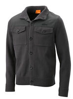 KTM Business Knitted Jacket Mens 100% Cotton Grey Cardigan NEW RRP £82.44!!