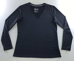 Women's Nike Dri-fit Logo Activewear Athliesure Long Sleeve Shirt Size Large NEW