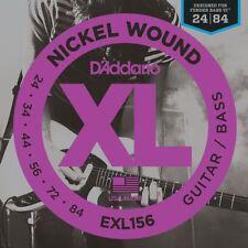 D'Addario EXL156 Nickel Wound, Fender Bass VI, 24-84