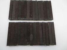"(5) Lot Of 5, Black Ebony Pen Blanks Wood Turning Square 3/4"" X 3/4"" X 6"""