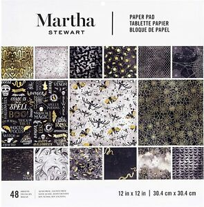 Martha Stewart Crafts® Paper Pad 12 x 12 Paper Pad Halloween Elegant 48 Pages