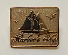 Lapel Pin New Old Stock Vintage Harbor'S Edge Employee Advertising