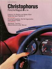 Christophorus 249 4 1994 Iris Berben Walter Röhrl VW-Porsche 914 914/6 914/8 911