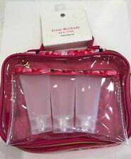 """Cosmetic Travel Case """"Isaac Mizrahi"""" Nwt! 5 Pc Set Great For Travel!"""