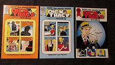 1989 DICK TRACY WEEKLY #81 82 83 VF+ Blackthorne by Chester Gould LOT of 3