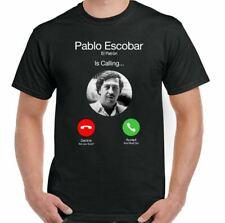 PABLO ESCOBAR T-SHIRT El Patron is Calling Mens Funny Narcos TV Show Drug Cartel