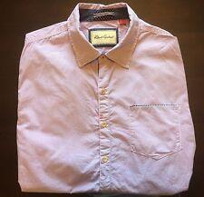 ROBERT GRAHAM Pink Shirt, Gray Striped 100% Cotton Mens Casual Dress Shirt XL
